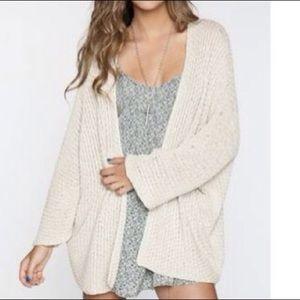Brand Melville Cream Knit Cardigan